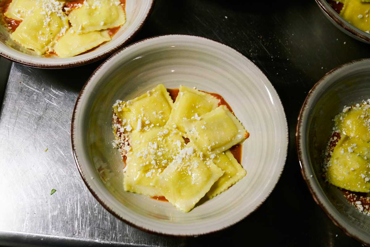Ricotta and lemon ravioli