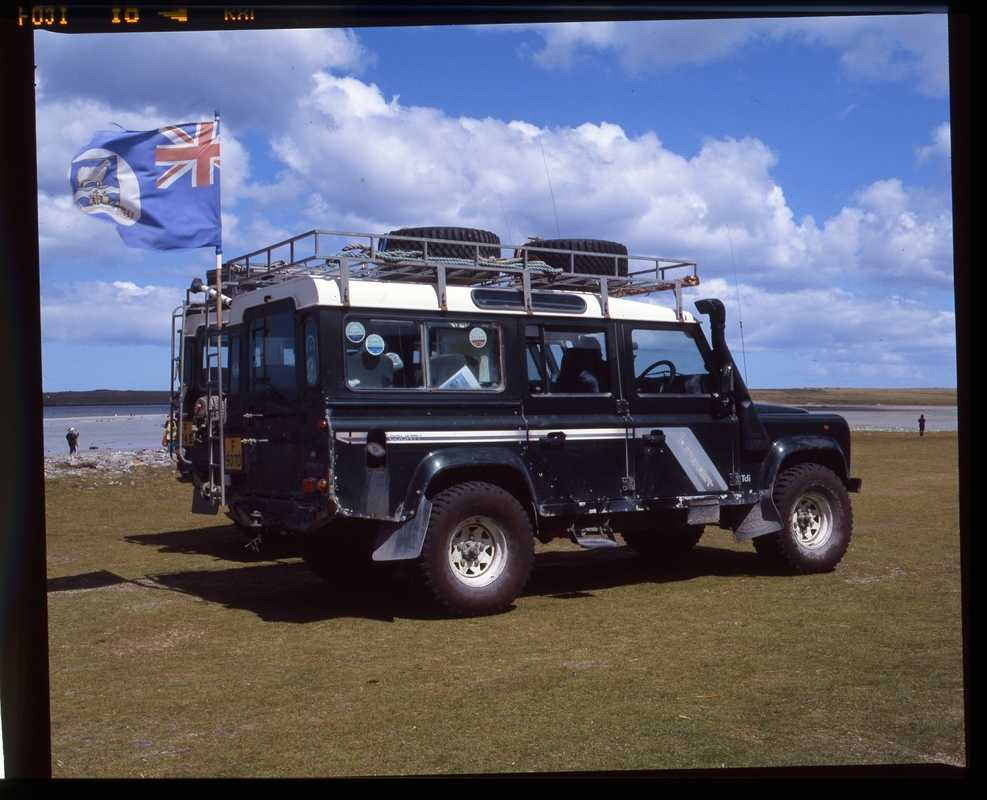 The islands' preferred mode of transport, the Land Rover