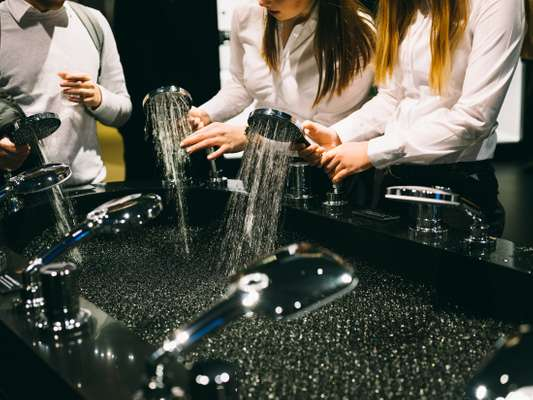 Nicely handled: Grohe hand showers