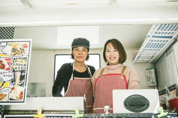 Jang Hye Kyung (left) sells authentic Korean food