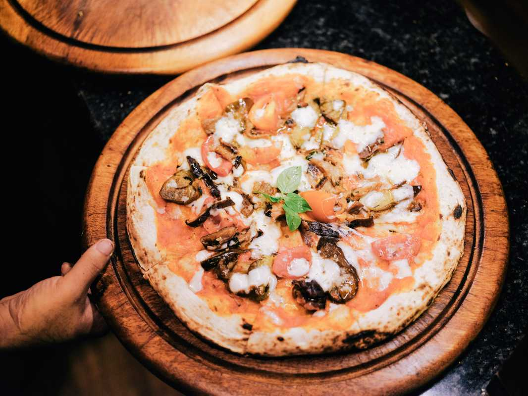 Pizza at the newly opened Bulan Villas resort