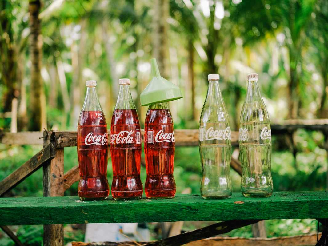 Fuel for thought: Siargao  petrol stations pour gasoline out of old glass bottles