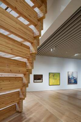 Timber slats allow light in