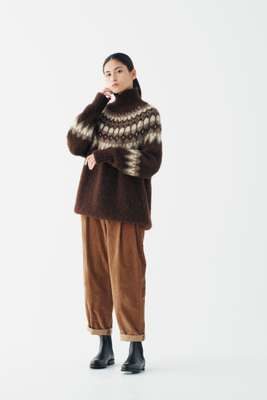 Jumper by Batoner from Beams House Marunouchi, trousers by Sunspel, boots by Ludwig Reiter