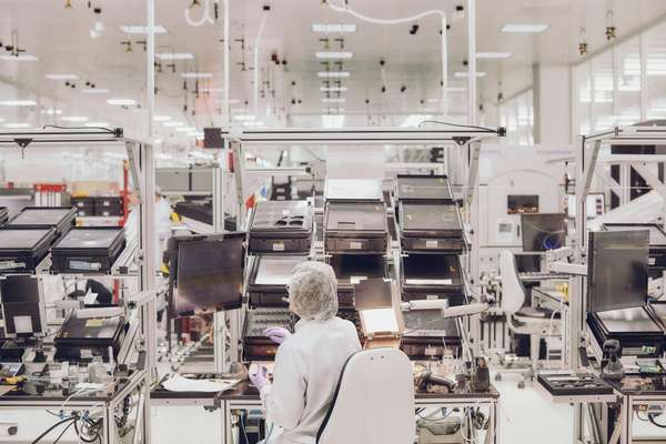 Inside one of the 'clean rooms' where lenses are assembled