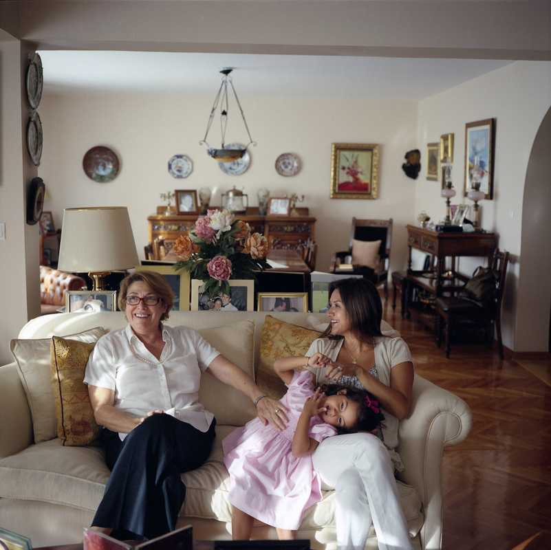 Rosemary, Diana and Leticia Dologh at home