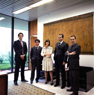 Young diplomats in the communications and documentation department