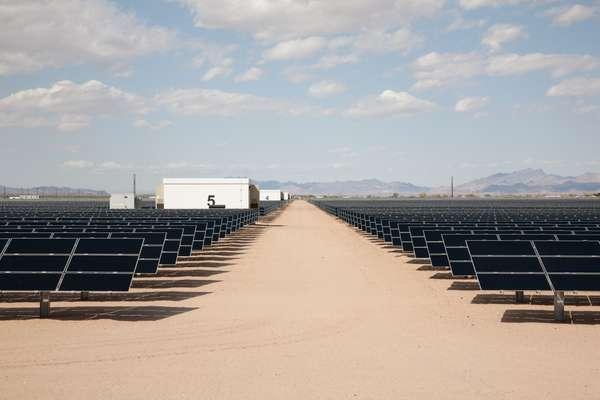 A 20MW photovoltaic plant owned by NRG in Blythe, California