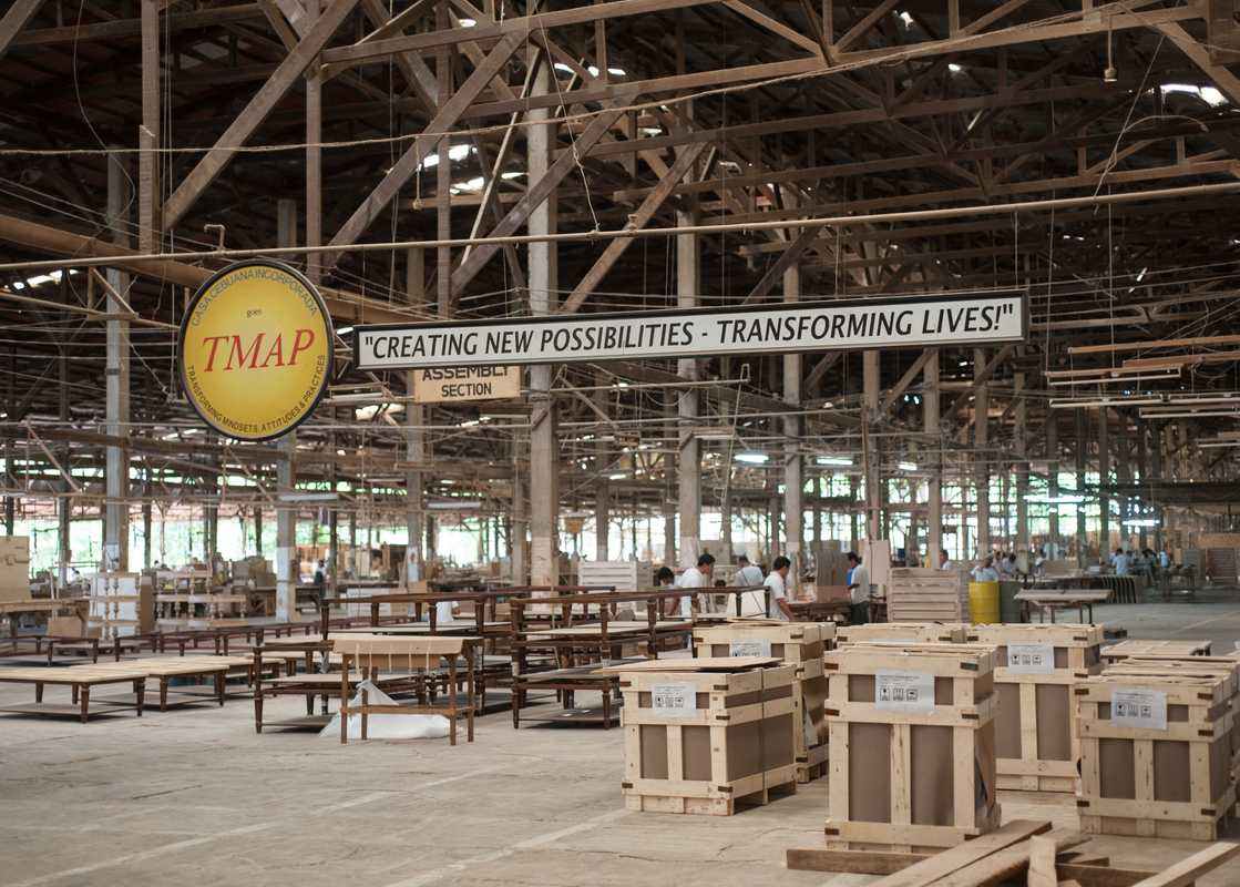Factory area of Cebu Furniture Industries Foundation (CFIF)
