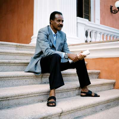 President Isaias Afwerki of Eritrea at the presidential palace, Asmara