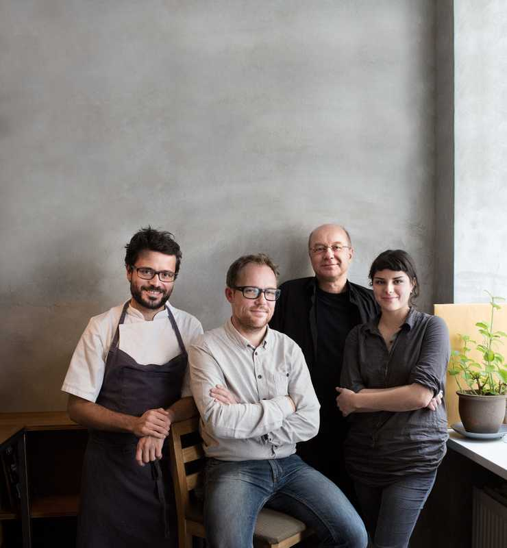 Left to right: Christian Puglisi - Chef at Restaurant Relae, Søren Ejlerson - Co-founder, Aarstiderne, Tor Nørretranders - Science writer