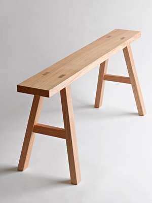 Oak bench from Found Muji collection