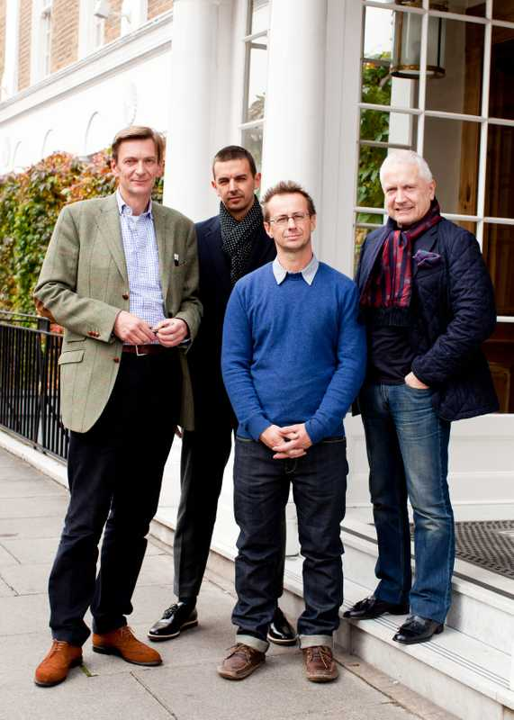 Left to right: Till Reiter - CEO, Ludwig Reiter shoes, Gary Bott - Creative director, Globe-Trotter suitcases, David Hieatt - Founder, Hiut Denim, Alan Lewis - Chairman, Crombie men's and womenswear