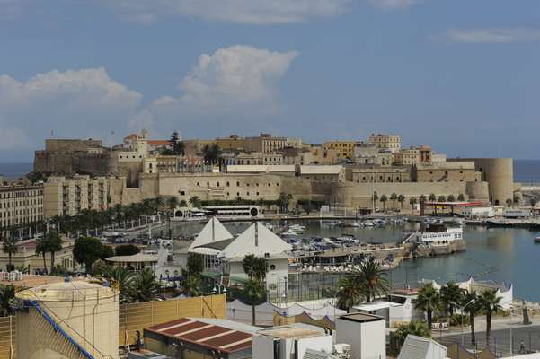 View of the port and the old town