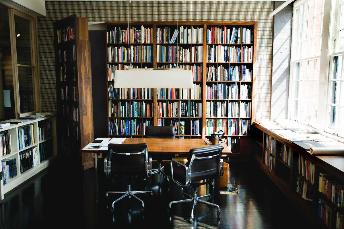 Office 1 (Andre Balazs' Properties, New York): Balazs' office with bookcase door