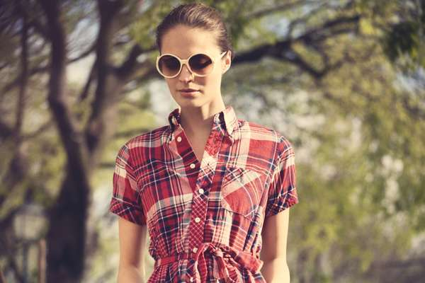 Sunglasses by Roger Vivier, dress by FWK by Engineered Garments