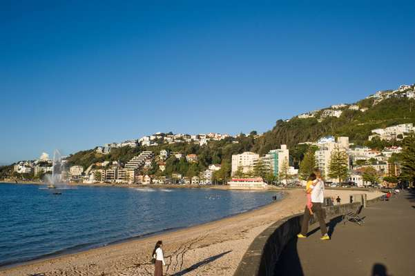 Main city beach in Wellington