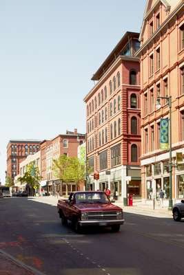 Congress Street, the main street in Portland