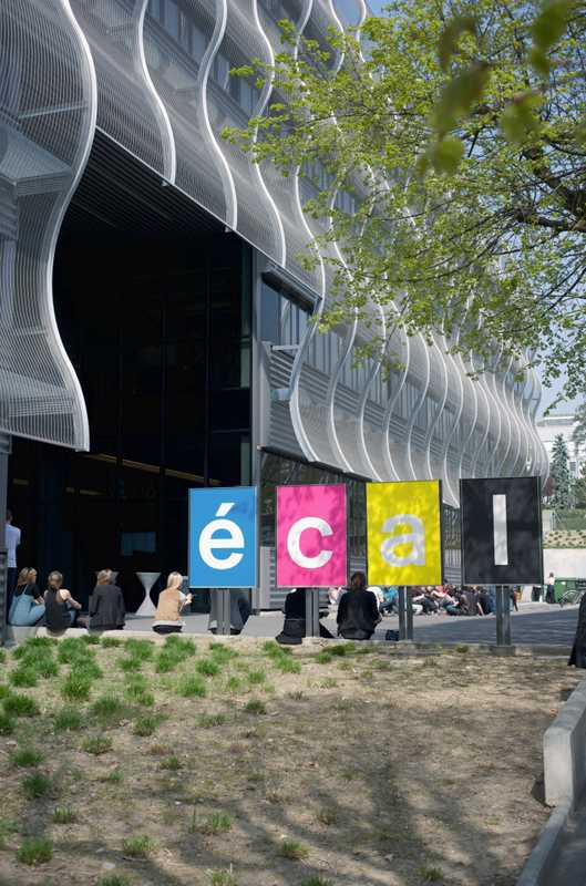 Main entrance to ECAL