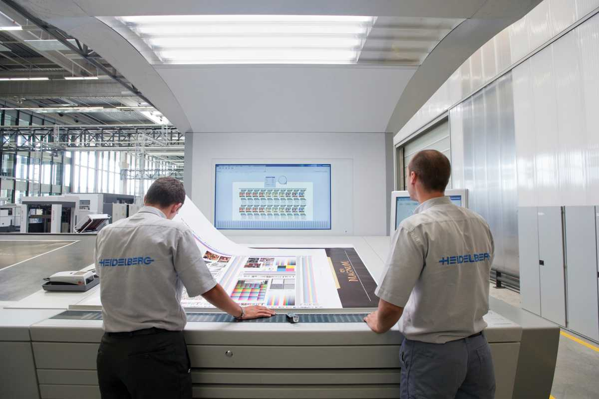 Technicians at Heidelberg, Germany