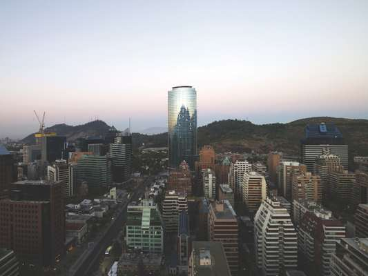 Titanium Tower, Santiago, one of the tallest towers in Latin America