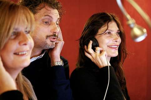 The Italian dubbing cast of 'Grey's Anatomy', Barbara Castracane, Stefano Benassi and Giuppy Izzo