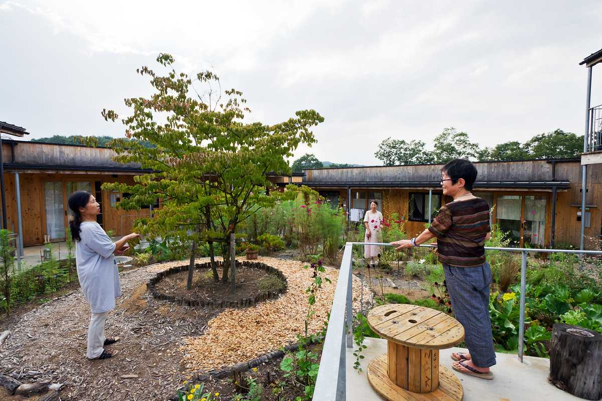 Residents at Yuimarl Nasu community in Japan