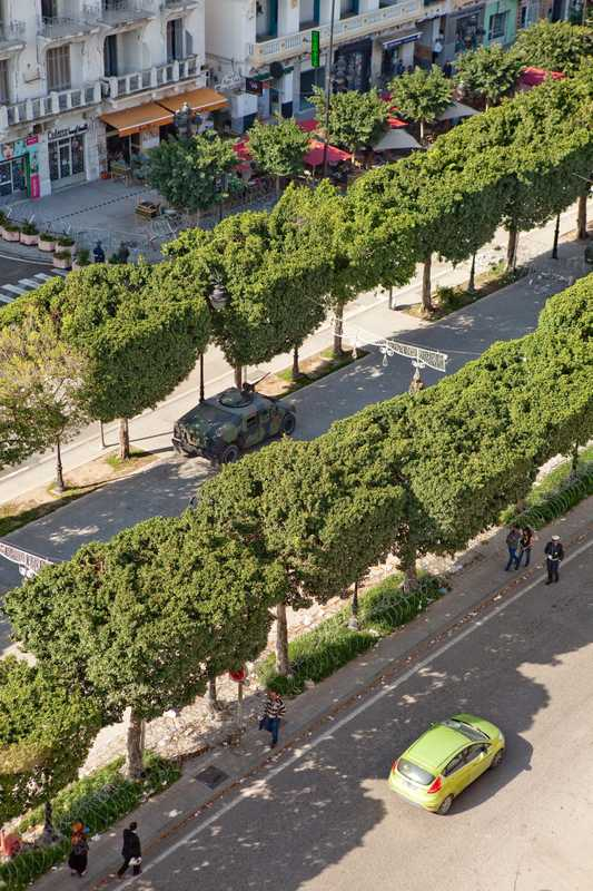 Aerial view of Avenue Bourguiba