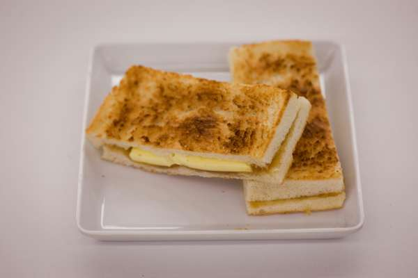 Traditional butter 'kaya' toast from Toast Box