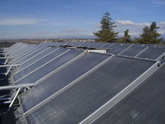 Solar collectors from ED70 CIEMAT installation, ClimateWell