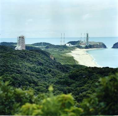 Yoshinobu launch complex from Rocket Hill observatory