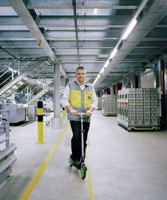 Guido Lötscher, shift supervisor, Härkingen sorting office