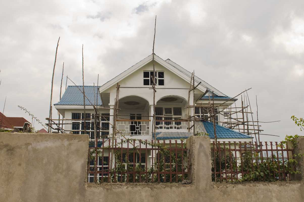 Construction is booming on the shores of Lake Kivu
