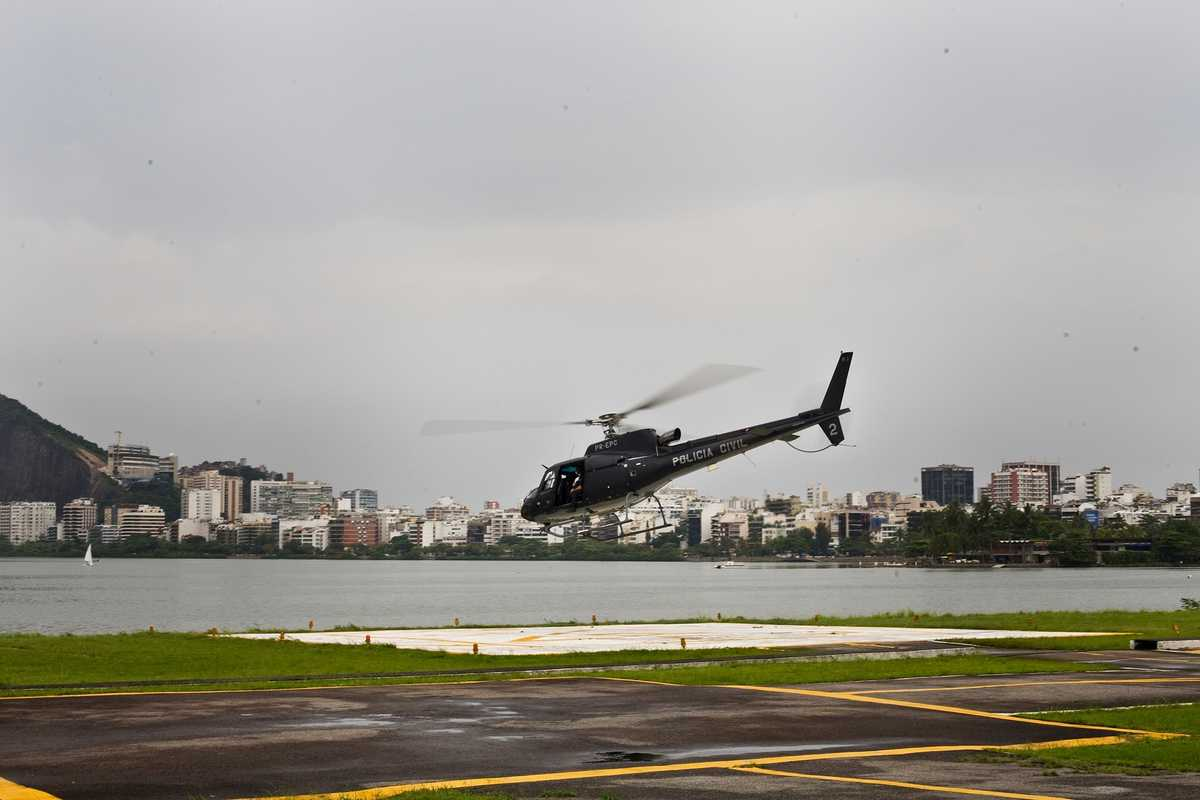 The Lagoa helipad at the unit's headquarters