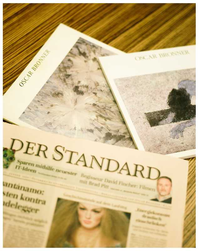 A copy of 'Der Standard' and books of Bronner's art