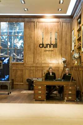 Dunhill's wood-panelled wonderland