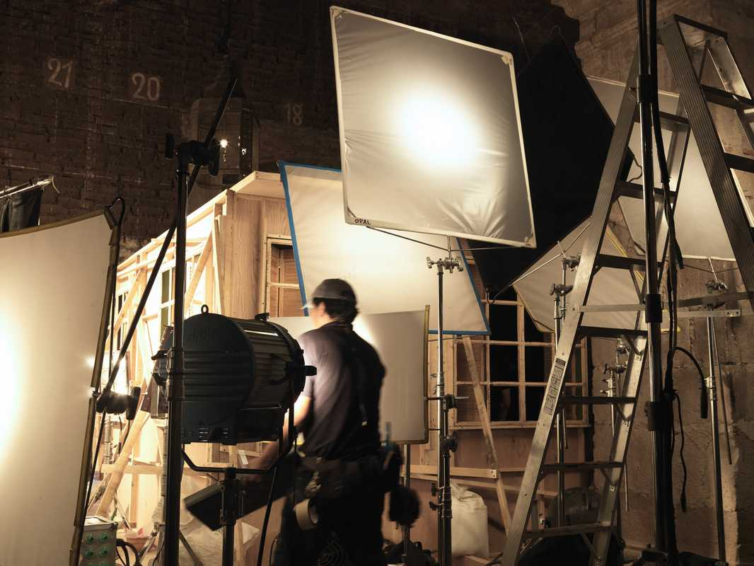Setting up on the set of 'Tequila'
