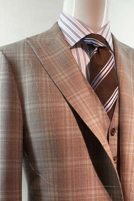 Pared down suit by Corneliani