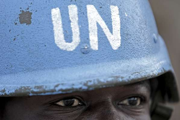 Nigerian soldier serving with the UN-African Union Mission in Darfur