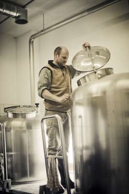 Master brewer Florian Geyer