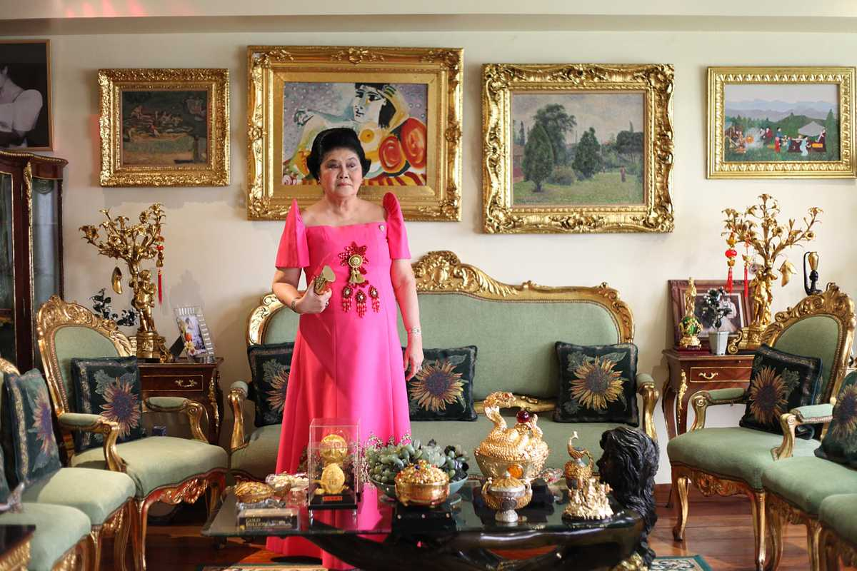 Imelda in her sparsely decorated high-rise condo in Makati