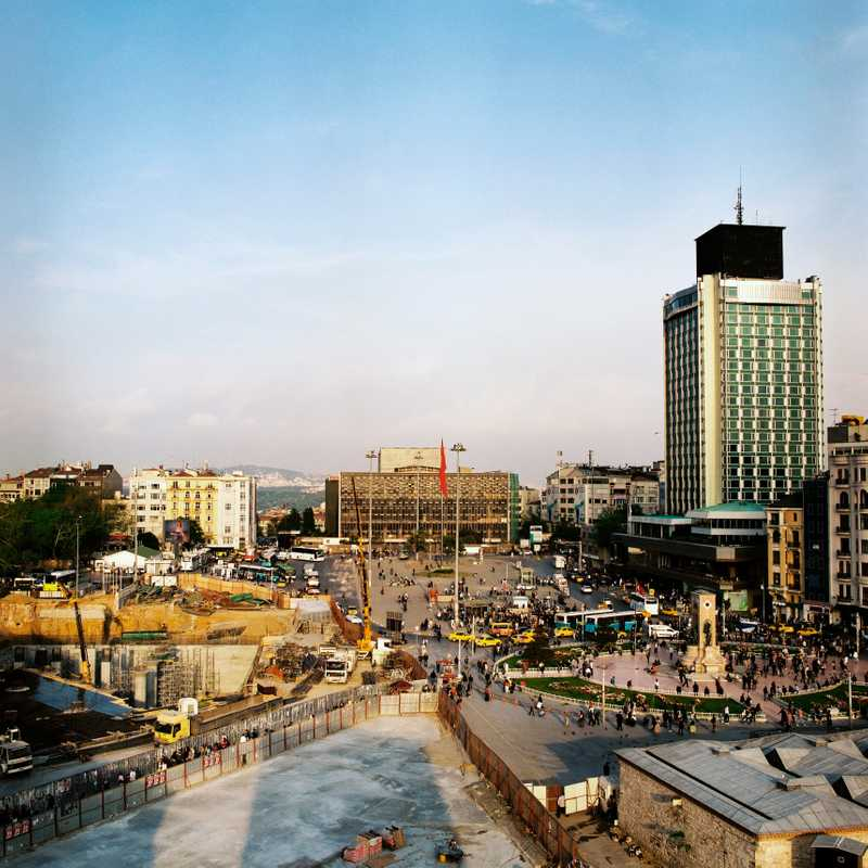 Redevelopment of Taksim Square, which will ultimately become traffic-free