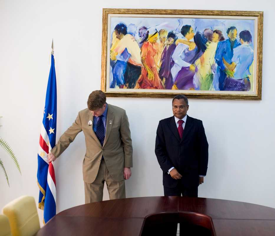 US congressman Patrick Kennedy with José Maria Neves, Cape Verde's Prime Minister