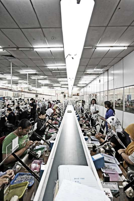 The production line at Fastron, an electronics manufacturer