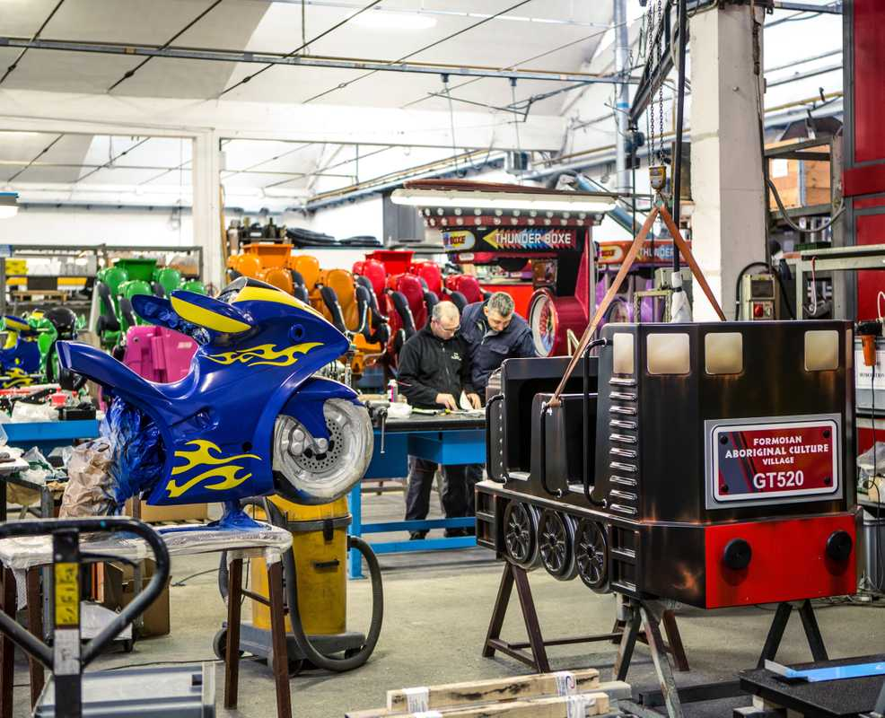 Inside the Zamperla factory