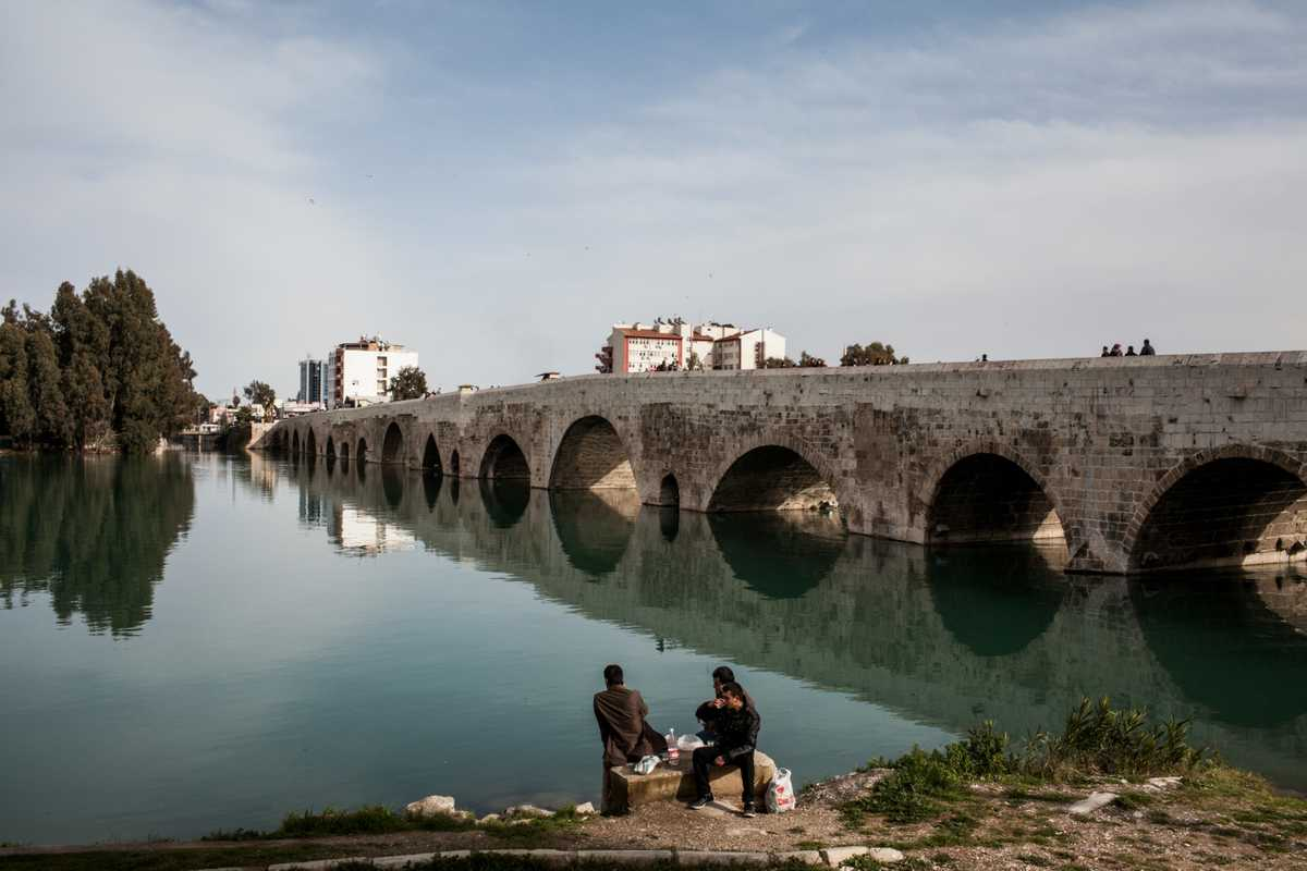 Adana's Taskopru Bridge across the Seyhan River