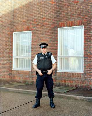 PC Paul Loader outside the station
