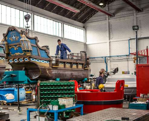 Zamperla's Water Fight pirate ship ready for delivery