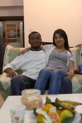 Assiongbon Kanokoe, from Togo, and his new girlfriend
