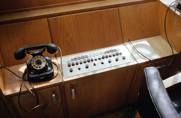Telephone and switchboard  in Jan's office